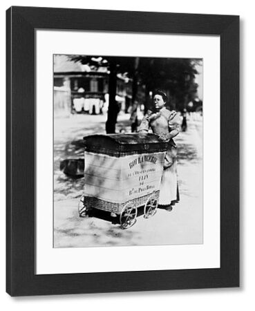 ATGET: DELIVERING BREAD.  Woman delivering bread on the Left Bank in Paris, France. Photograph by Eug?ne Atget, c1898
