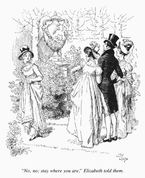 AUSTEN: PRIDE & PREJUDICE. Illustration by Hugh Thomson for an 1894 edition of