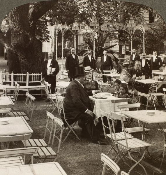BERLIN: BEER GARDEN, 1914. A family party in Kroll's famous beer garden, Berlin, Germany