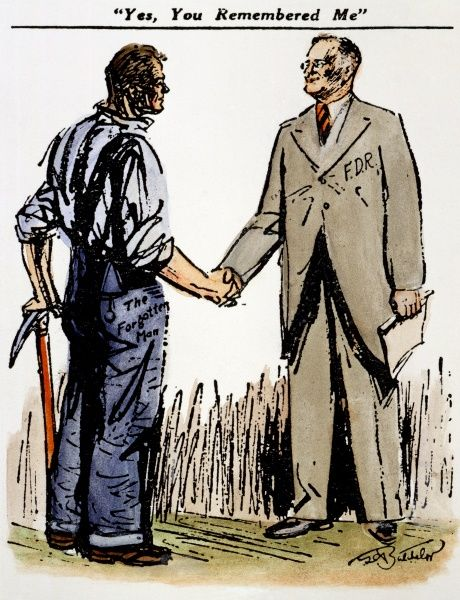 Cartoon: Fdr & Workingmen