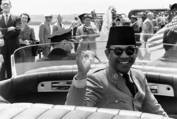 Indonesian nationalist leader and politician. Photographed by Warren K. Leffler during a visit to Washington, D.C., as President of Indonesia, 16 May 1956