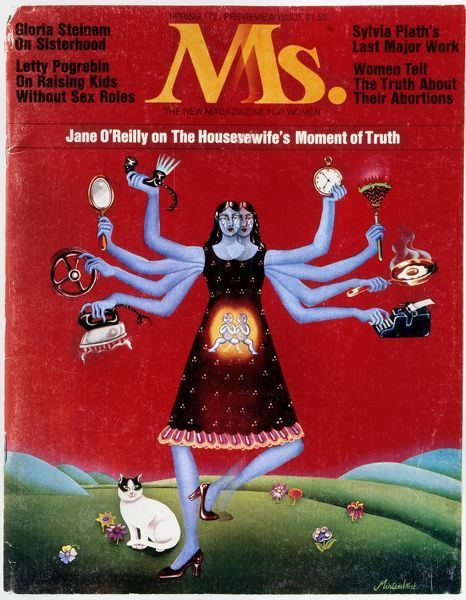 MS. MAGAZINE, 1972. Cover of the first issue of 'Ms.' magazine, spring 1972