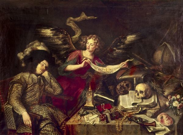 PEREDA: DREAM OF DEATH. Dream of Death. Oil on canvas, 1640, by Anthony Pereda