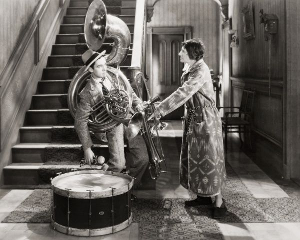 SILENT FILM STILL: MUSIC.  Scene with Charles 'Buddy' Rogers