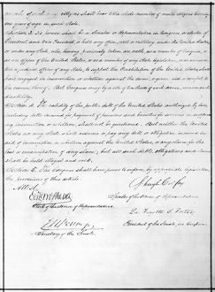 14th AMENDMENT, 1868. The second page of the 14th Amendment of the United States