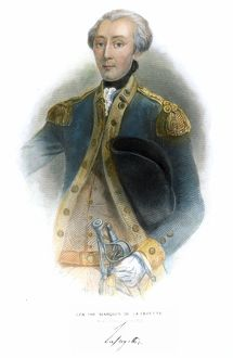 (1757-1834). French soldier and statesman. Line and stipple engraving, American, 19th century