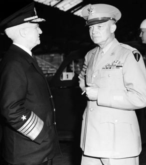 (1890-1969). 34th President of the United States. General Dwight D. Eisenhower (right)