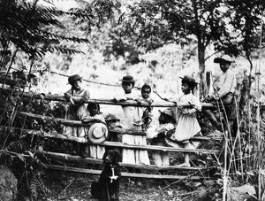 AFRICAN AMERICAN CHILDREN. A group of children in rural Virginia. Photograph, c1890