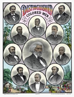 AFRICAN AMERICANS, c1883. 'Distinguished Colored Men
