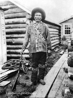 ALASKA: CHIEF WILLIAM. Eskimo Chief William of Tanana, Alaska. Photograph, c1916