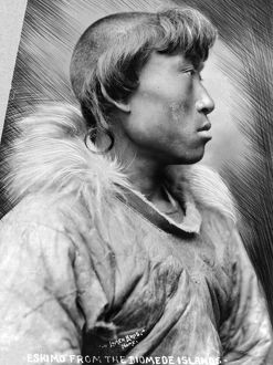 ALASKA: ESKIMO, c1904. Eskimo man from the Diomede Islands, Alaska