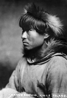 ALASKA: ESKIMO MAN, c1906. Eskimo man, a native of Kings Island, Alaska. Photograph