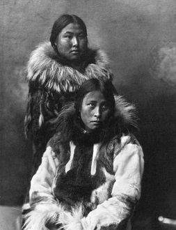 ALASKA: ESKIMOS, c1903. Two Eskimo women in traditional fur clothing, Nome, Alaska