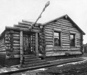 architecture/alaska log cabin c1916 log cabin clubhouse nome