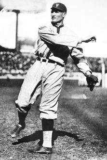 American professional baseball player. Pitching in 1925