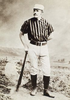 American professional baseball player. Original cabinet photograph, c1885