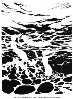 ANDERSEN: LITTLE MERMAID. 'The little mermaid was slowly rising up out of the foam