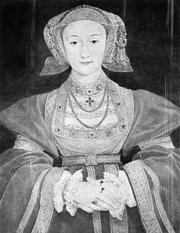 ANNE OF CLEVES (1515-1557). Fourth wife of King Henry VIII of England. Oil on vellum