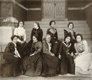 ATLANTA UNIVERSITY, c1900. Group of African American women students seated on the