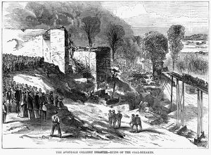 AVONDALE MINING DISASTER. 'Ruins of the coal-breaker.' Avondale Colliery fire
