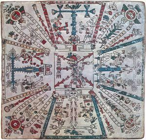 end world/aztec world regions aztec painting codex fejervary mayer