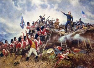 BATTLE OF NEW ORLEANS, 1815. Andrew Jackson at the Battle of New Orleans, 8 January 1815