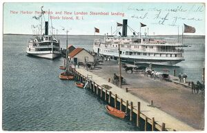 BLOCK ISLAND: STEAMBOATS. Steamboats from New York and from New London, Connecticut