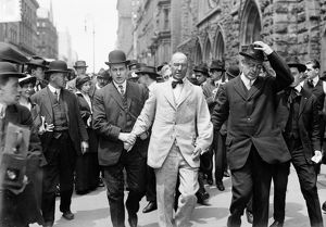 BOUCK WHITE ARRESTED, 1914. Minister and socialist Bouck White arrested for disrupting
