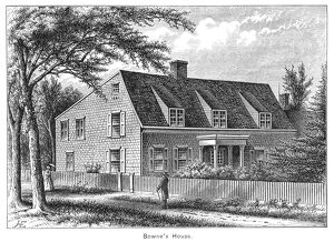 BOWNE HOUSE, 1661. The Bowne House, built in 1661 by John Bowne in Flushing, New York