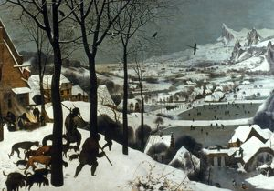 BRUEGEL: HUNTERS, 1565. Pieter Bruegel the Elder: Hunters in the Snow. Panel, 1565.