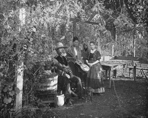 CALIFORNIA: FAMILY, c1890. A Mexican family in Southern California. Photograph, c1890