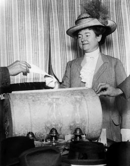 CALIFORNIA: WOMAN VOTING. Annie Marshall Reid Rolph, wife of San Francisco mayor James Rolph