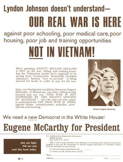american elections/campaign flyer supporting candidacy senator eugene