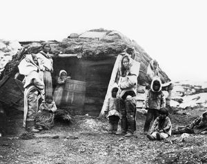 CANADA: ESKIMO FAMILY, 1860. An Eskimo family group of the Eastern Canadian Arctic