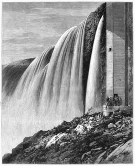 CANADA: NIAGARA FALLS. Horseshoe Falls at Niagara Falls in Canada. Engraving, English