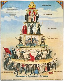 CAPITALIST PYRAMID, 1911. /nAmerican Socialist poster.