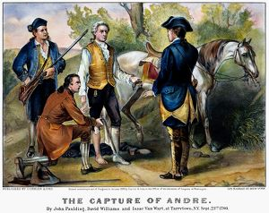 currier ives/capture major john andre 1780 lithograph 1876