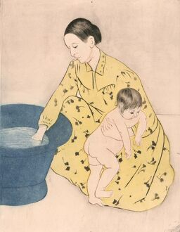 CASSATT: BATH, 1891. 'The Bath.' Drypoint and aquatint by Mary Cassatt, 1891