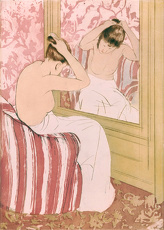 CASSATT: COIFFURE, 1891. 'The Coiffure.' Drypoint and aquatint by Mary Cassatt