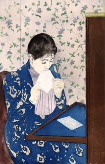 CASSATT: THE LETTER, c1890. 'The Letter.' Drypoint and aquatint by Mary Cassatt