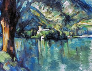 CEZANNE: ANNECY LAKE, 1896. Paul Cezanne: Le Lac d'Annecy. Canvas, 1896.