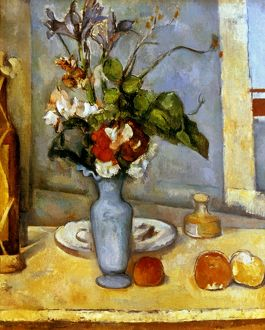 CEZANNE: BLUE VASE, 1885-87. Paul Cezanne: The Blue Vase. Oil on canvas, 1885-87.