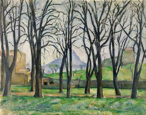 CEZANNE: CHESTNUT TREES. 'Chestnut Trees at Jas de Bouffan.' Oil on canvas