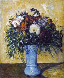 CEZANNE: FLOWERS, 1873-75. Paul Cezanne: Bunch of Flowers. Oil on canvas, 1873-75.