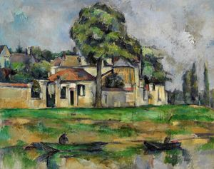 CEZANNE: MARNE, C1888. 'Banks of the Marne.' Oil on canvas, Paul Cezanne, c1888