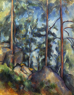 CEZANNE: PINES, 1896-99. Paul Cezanne: Pines and Rocks. Oil on canvas, 1896-9.