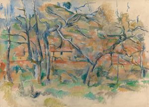 CEZANNE: TREES AND HOUSES. 'Trees and Houses, Provence