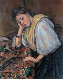 CEZANNE: YOUNG ITALIAN. 'Young Italian Woman at a Table