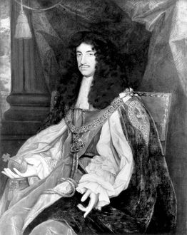 CHARLES II (1630-1685). King of Great Britain and Ireland, 1660-1685. Oil on canvas