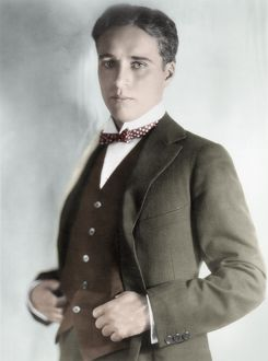CHARLES SPENCER CHAPLIN (1889-1977). English comedian